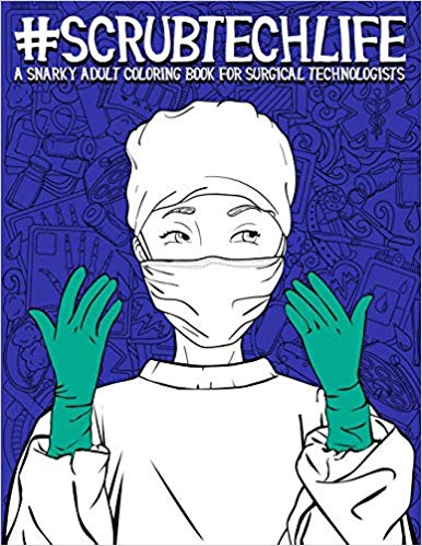 picture of a coloring book with a surgeon on it